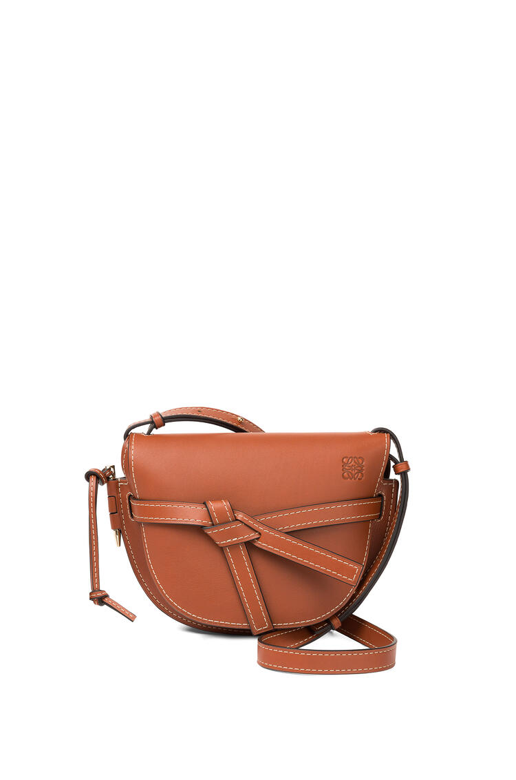 LOEWE Small Gate bag in natural calfskin Rust Color pdp_rd