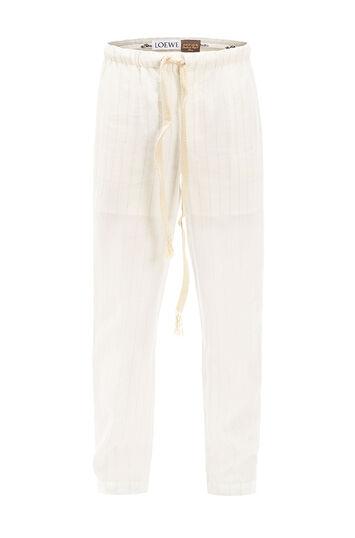 LOEWE Paula Stripe Pyjama Trousers Blanco Roto front