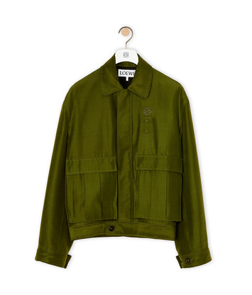 LOEWE Patch Pocket Jacket Khaki Green front