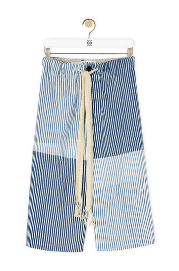 LOEWE Draw String Stripes  Bermuda 白色/蓝色 front
