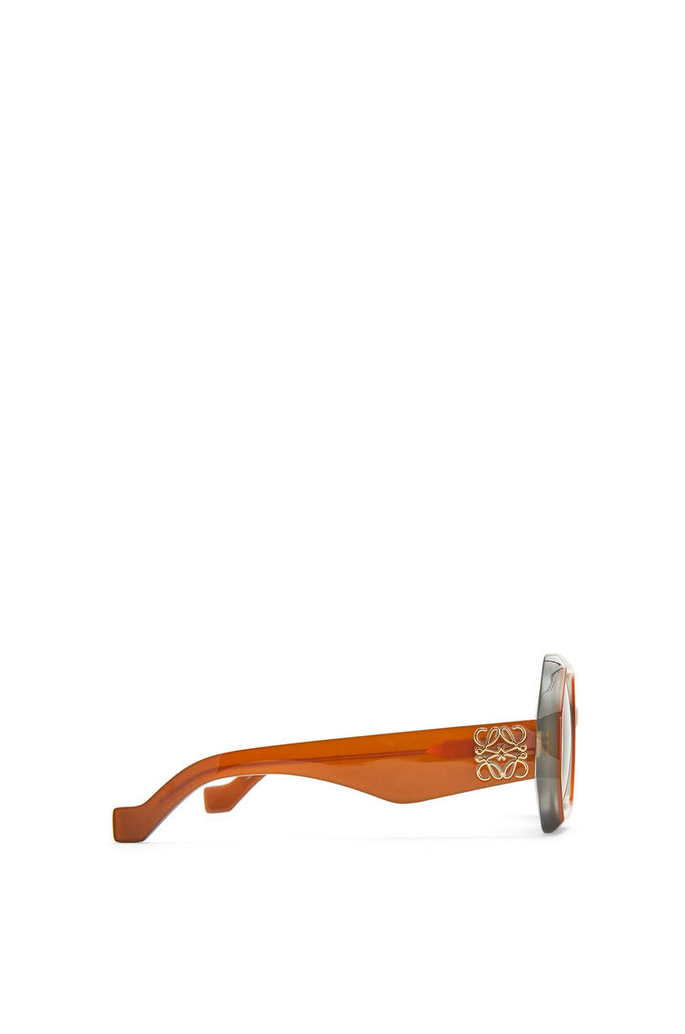 LOEWE Chunky rectangular sunglasses in acetate Milky Tan pdp_rd