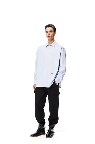 LOEWE 棉質 Anagram 刺繡寬鬆襯衫 天藍 pdp_rd