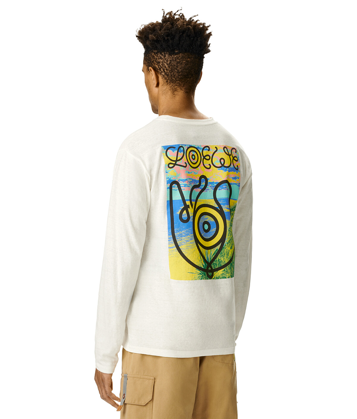LOEWE Eye Lowe Long Slv T-Shirt Blanco front