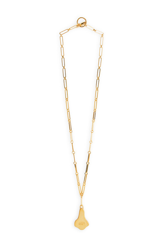 LOEWE Calla Necklace Lilac front