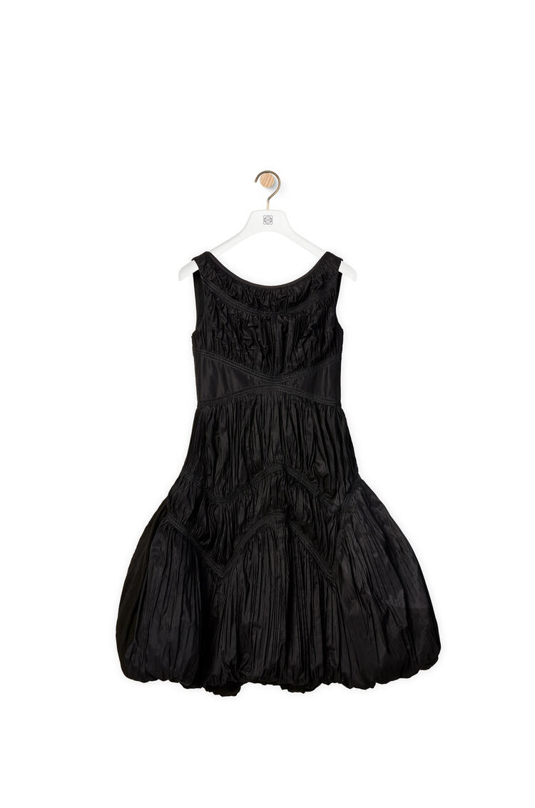 LOEWE Gathered dress in linen Black pdp_rd