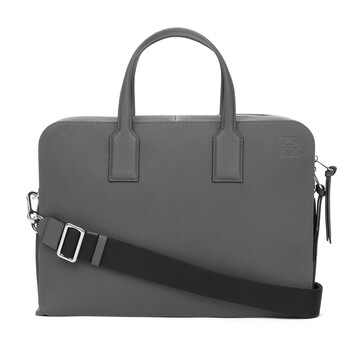LOEWE Goya Thin Briefcase Steel Grey front