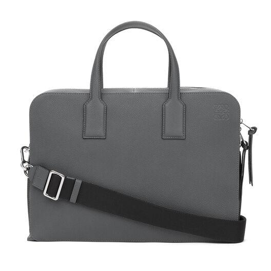 LOEWE Goya Thin Briefcase Steel Grey front
