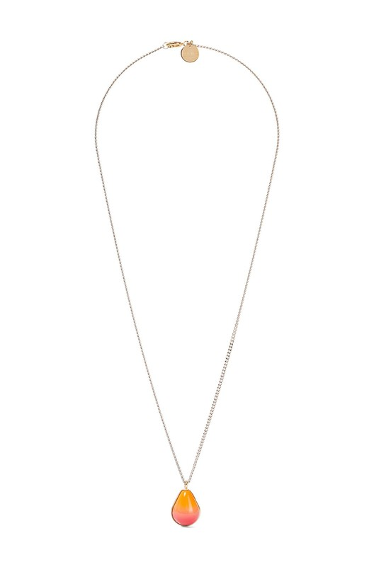 LOEWE Vermeer Necklace Gold/Orange front