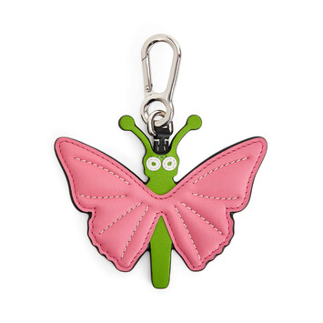 LOEWE Butterfly Charm Pink/Green front