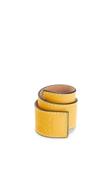 LOEWE Small slap bracelet in calfskin Yellow pdp_rd