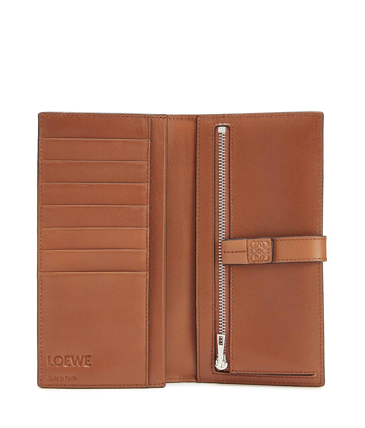 LOEWE Large Vertical Wallet Steel Blue/Tan front