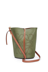 LOEWE Anagram Gate Bucket bag in natural calfskin Avocado Green/Tan pdp_rd