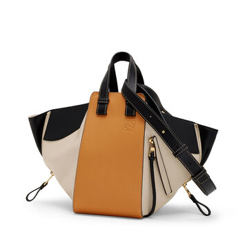 LOEWE Hammock Small Bag Amber/Light Oat front
