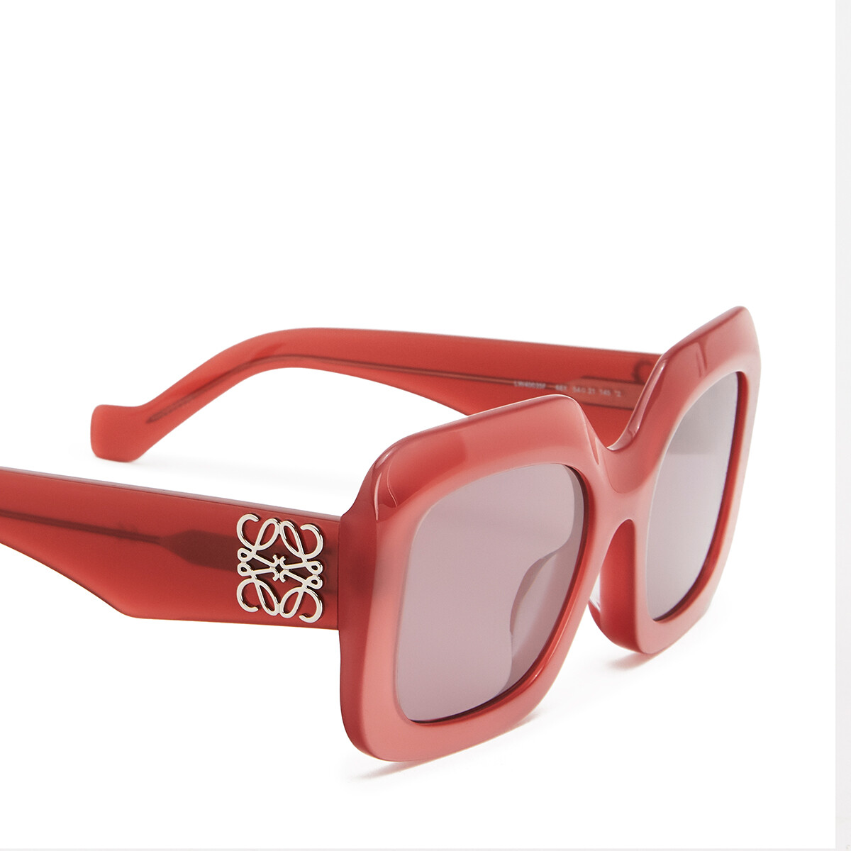 LOEWE Acetate Rectangular Sunglasses Strawberry front