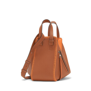 LOEWE Hammock Whipstitch Small Bag Tan/Orange front