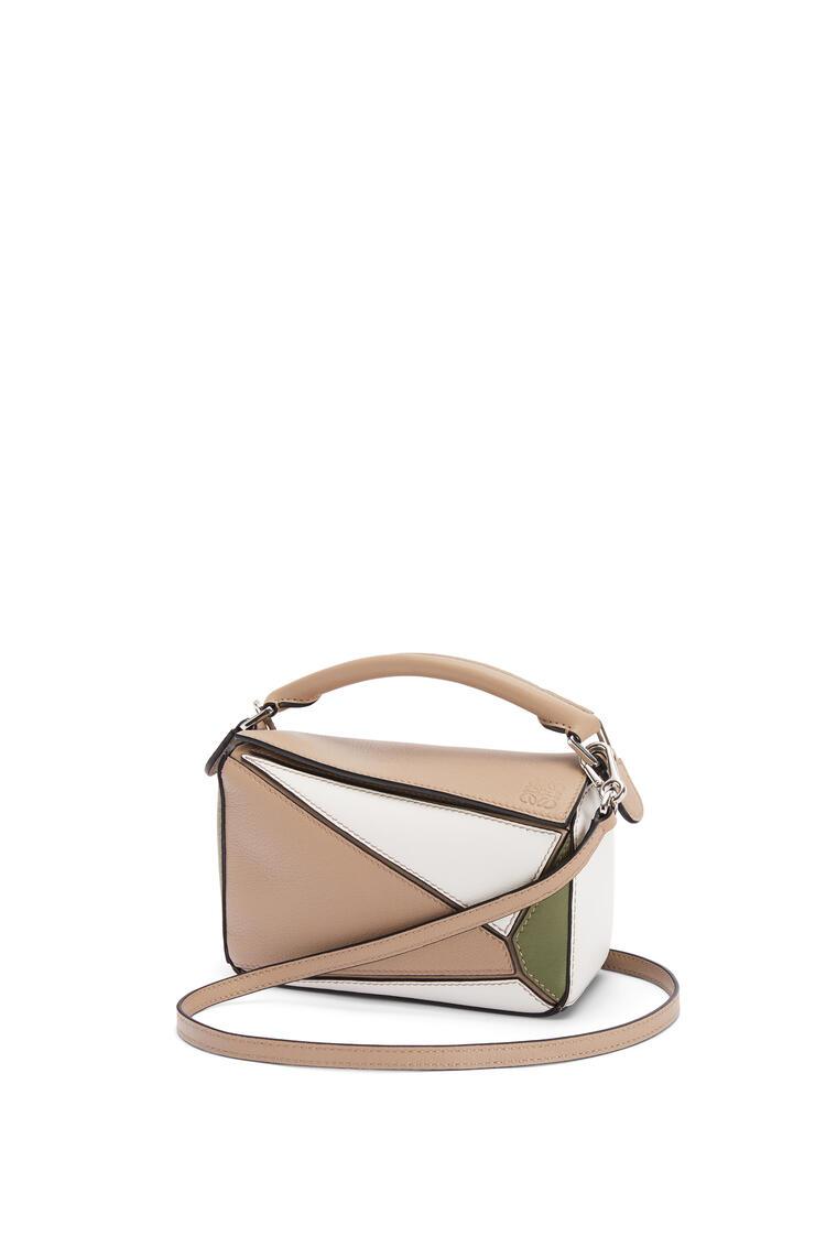LOEWE Mini Puzzle bag in classic calfskin Sand/Avocado Green pdp_rd