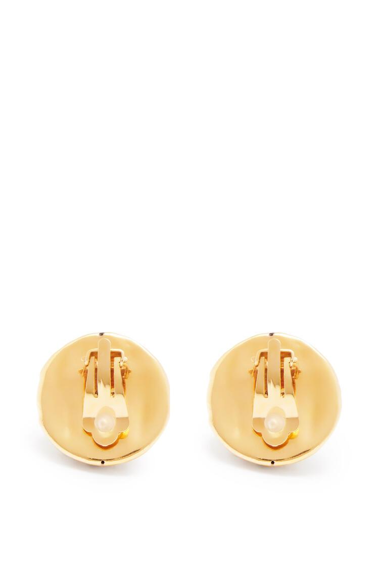 LOEWE Earring in hammered metal Gold pdp_rd