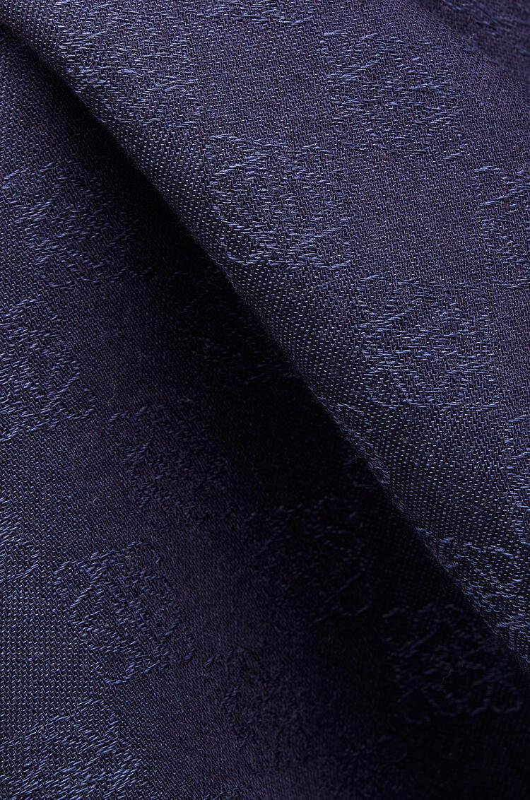 LOEWE 70 x 200 cm 羊毛 LOEWE Anagram 围巾 黑色 pdp_rd