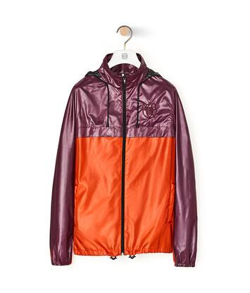 LOEWE Jacket With Hoodie Morado/Naranja front