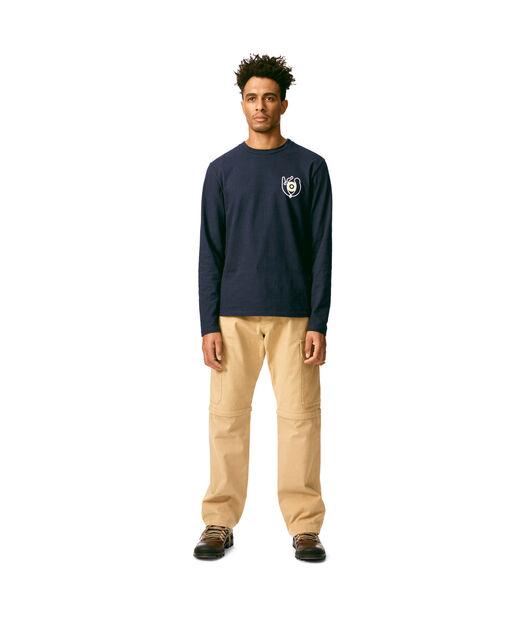 LOEWE Long Sleeve T-Shirt Loewe Eye Navy Blue front