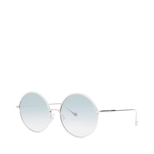 LOEWE Gafas Redondas Azul Celeste/Turquesa Degradad front