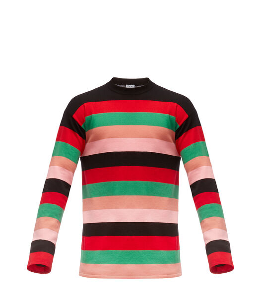 LOEWE Stripe Sweater Red/Pink/Green front