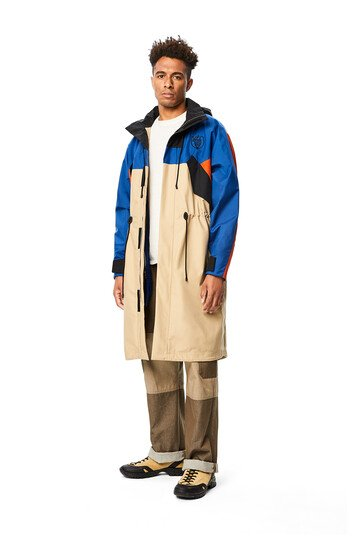 LOEWE Eln Long Parka Fleece Lining Blue/Beige front