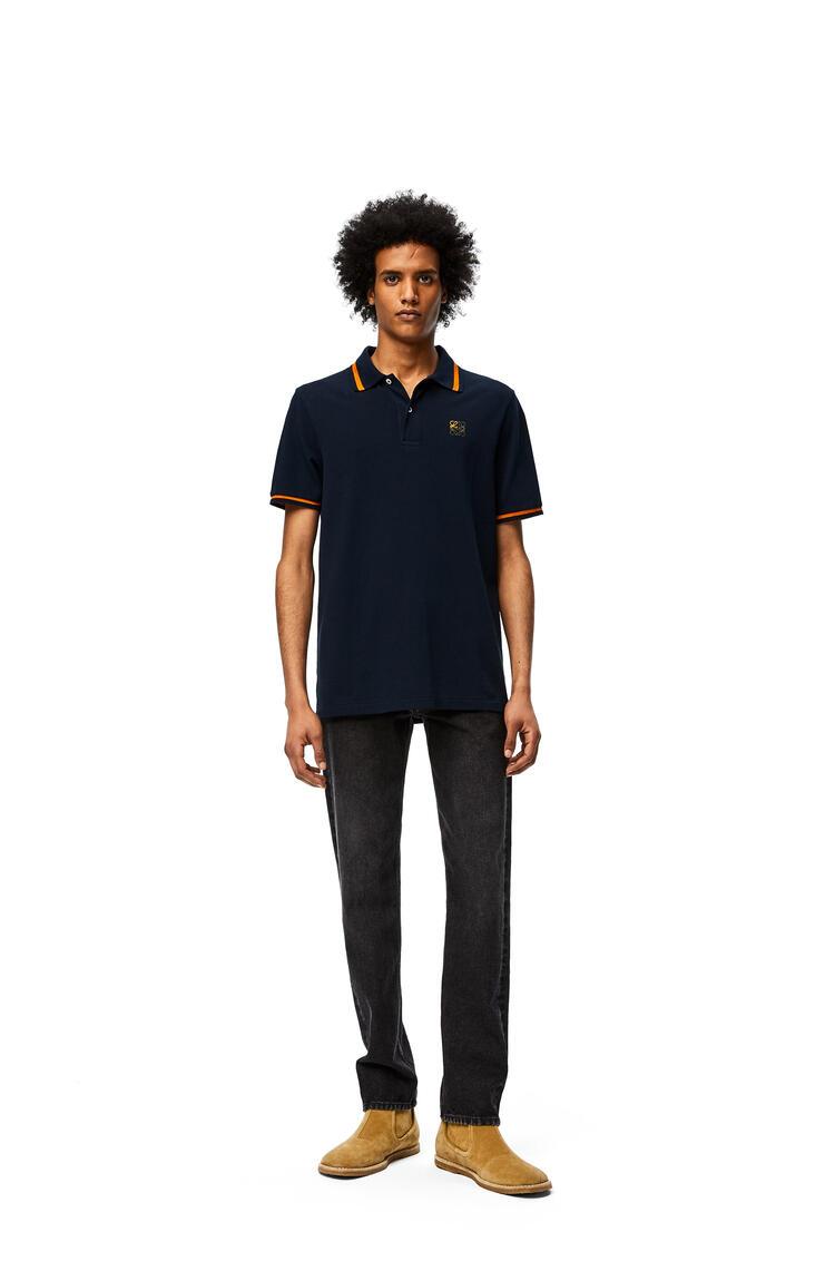 LOEWE Polo en algodón con anagrama bordado Marino pdp_rd