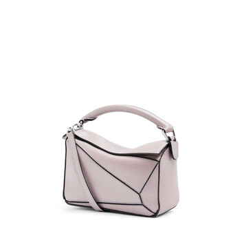 LOEWE Bolso Puzzle Mini Rosa Hielo front