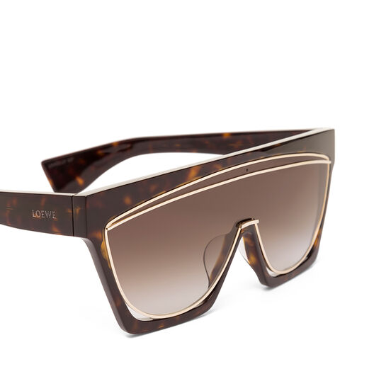 LOEWE Masque Sunglasses Dark Havana/Gradient Brown front