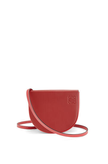 LOEWE Heel bag in soft calfskin Pomodoro/Poppy Pink pdp_rd