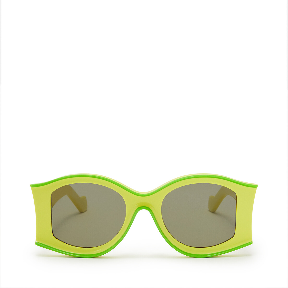 LOEWE Large Pula's Ibiza Sunglasses In Acetate Neon Yellow/Neon Green front