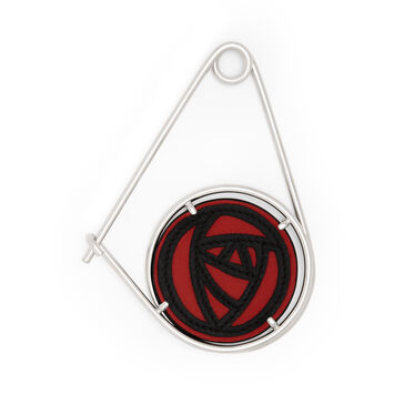 LOEWE Roses Meccano Pin Scarlet Red/Black front