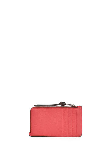 LOEWE Coin Cardholder In Soft Grained Calfskin Poppy Pink pdp_rd