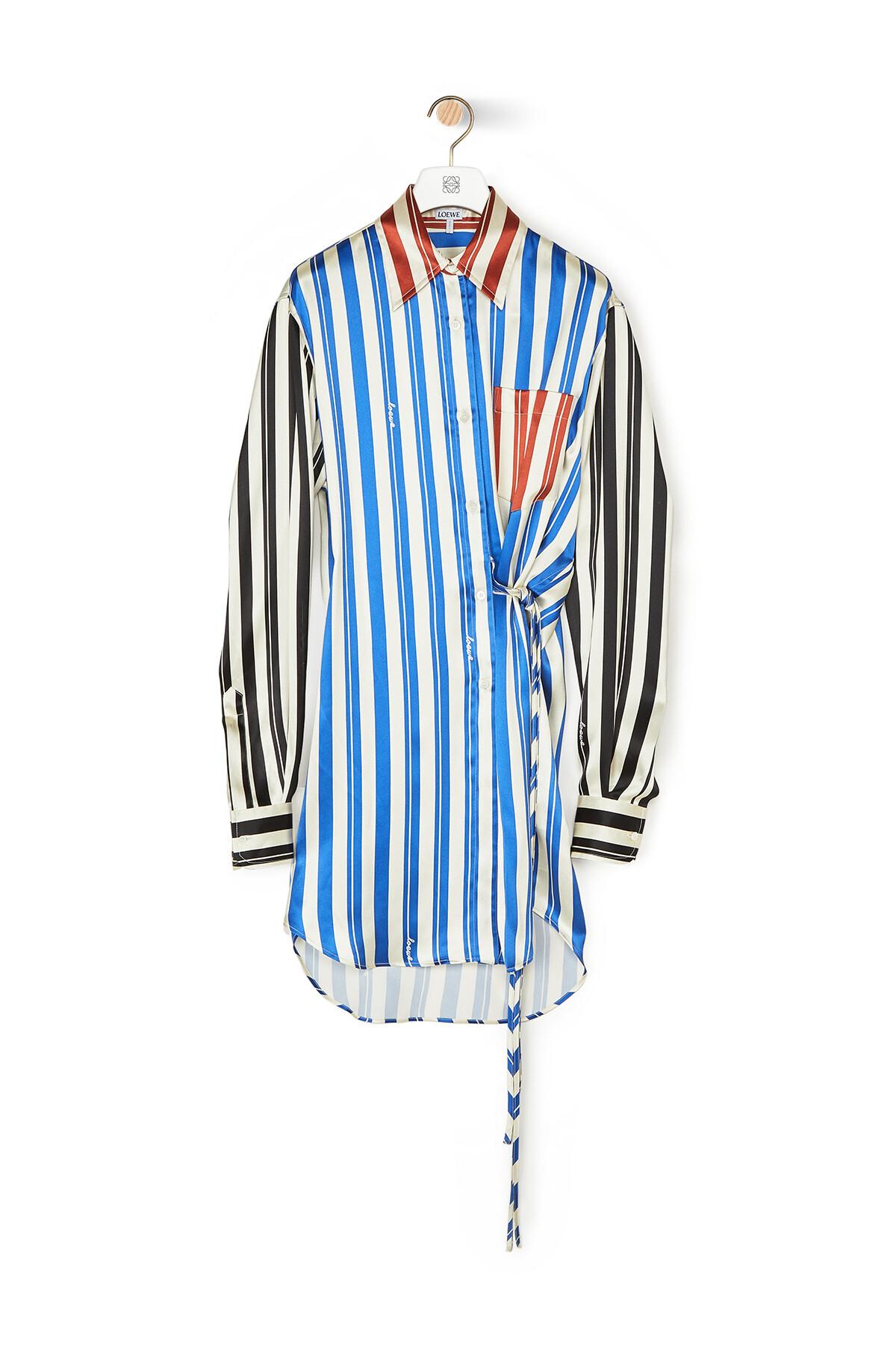 LOEWE Stripe Wrap Shirt Multicolor front