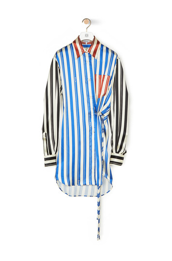 LOEWE Stripe Patchwork Wrap Shirt Multicolor front