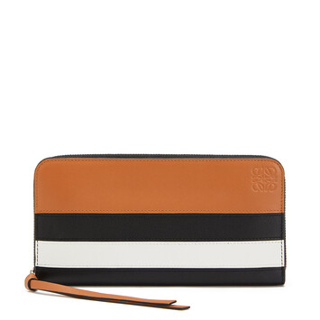 LOEWE Zip Around Wallet Marine 黑色/白色 front
