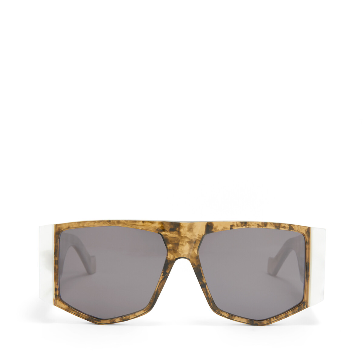 LOEWE Acetate Mask Sunglasses White/Smoke front