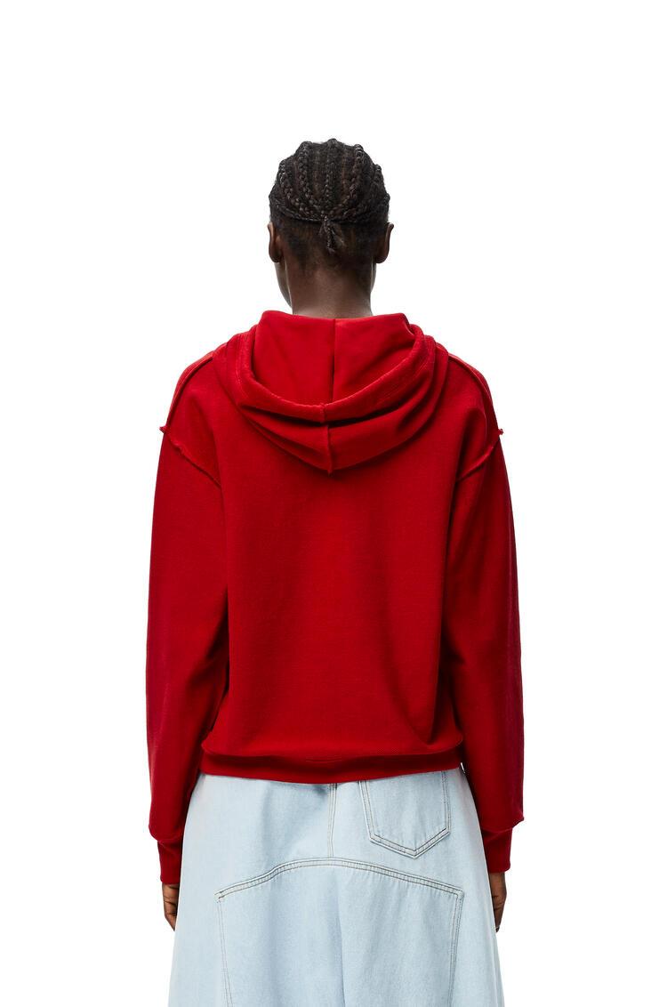 LOEWE LOEWE anagram embroidered hoodie in cotton Red pdp_rd
