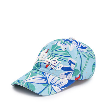 LOEWE Cap In Waterlily Canvas Aqua front