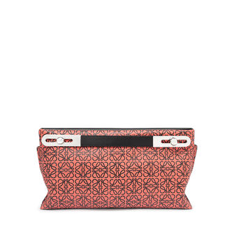 LOEWE Missy Repeat Small Bag Pink Tulip/Black front