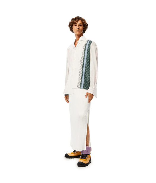 LOEWE Stripe Anagram Asym Shirt Beige/Blue/White front
