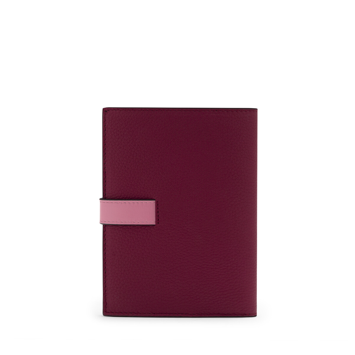 LOEWE Medium Vertical Wallet Wild Rose/Raspberry front