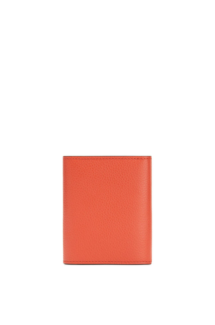 LOEWE Trifold Wallet In Soft Grained Calfskin Coral/Soft Apricot pdp_rd