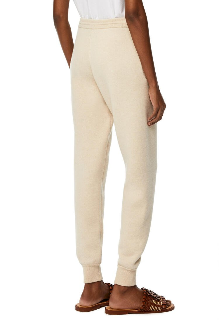 LOEWE Knit track trousers in cashmere Ecru pdp_rd