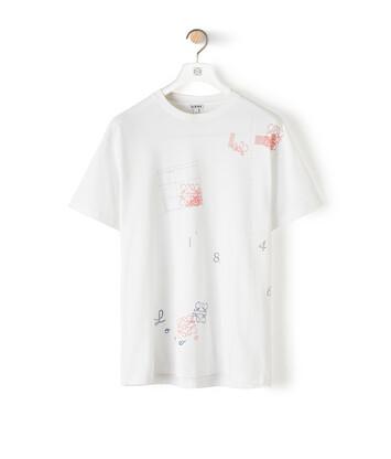 LOEWE Anagram Print T-Shirt Blanco front
