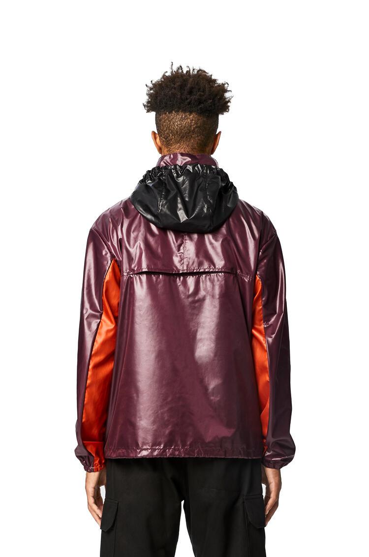 LOEWE Zip jacket in nylon 紫色/橙色 pdp_rd