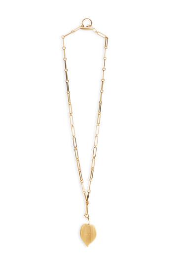 LOEWE Leaf Necklace 黑色 front