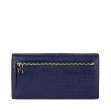 LOEWE Linen Continental Wallet 海军蓝 front
