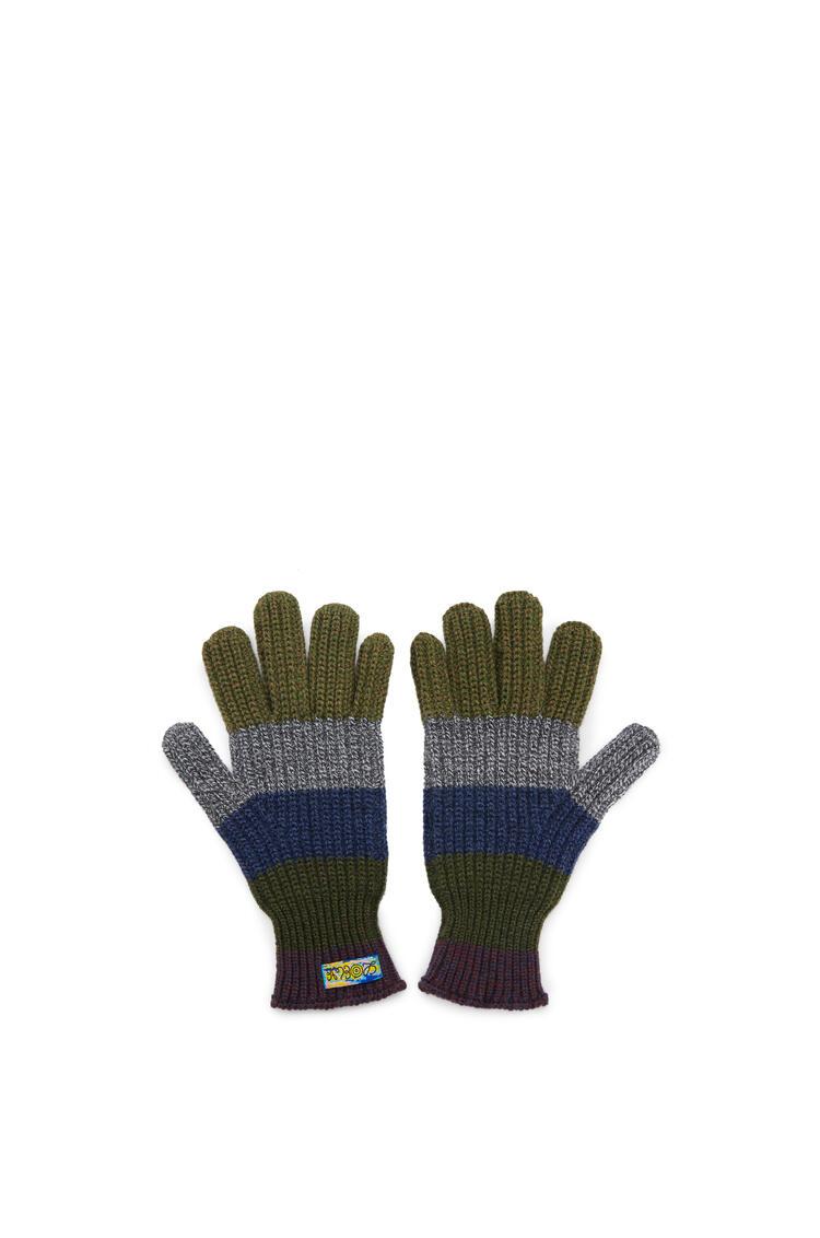 LOEWE Knitted gloves in wool Multicolor pdp_rd